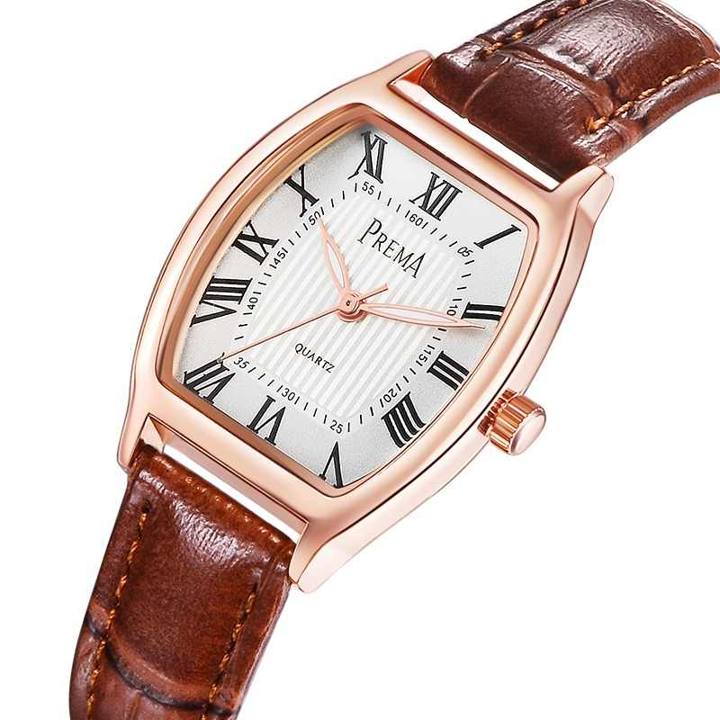 ae0ed3d06614 PREMA Brand women watches Fashion female watch 2019 Ladies Casual Quartz  Watch leather Clock WristWatch Women