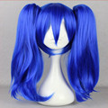 HAIRJOY Woderful  Master Kagerou Project Enomoto Takane Blue Two Braids Cosplay Wig Synthetic Hair Wig