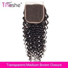 Perruque Lace Closure brésilienne naturelle Remy – Tinashe, cheveux bouclés, 4x4 pouces, Swiss Lace Closure, Transparent HD