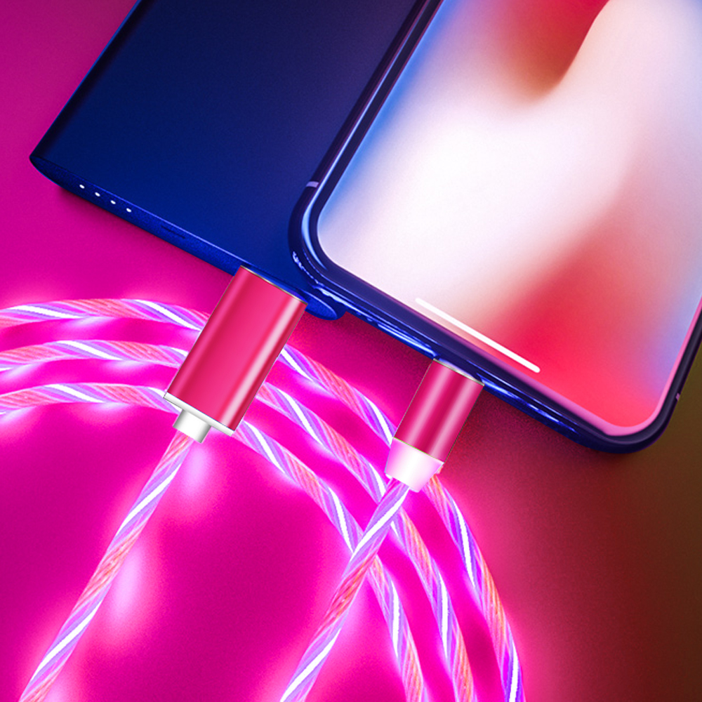 luminous Magnetic suction Micro <font><b>USB</b></font> Wire For Huawei P8 P9 P10 P20 P30 Pro Mate 20 10 <font><b>Lite</b></font> <font><b>Honor</b></font> 20 <font><b>9</b></font> 8 Type C fast charger Cable image
