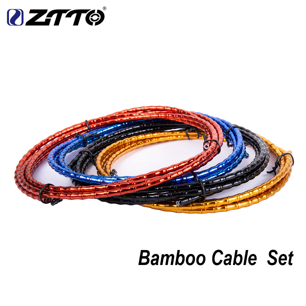 ZTTO MTB Road Bike Floding Bicycle CNC Bamboo Brake Line Cover Elite Aluminum Alloy Links Mountain Shift Cable Hose 1800mm Tube
