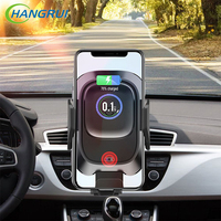 Hangrui Car Charger Wireless Charger Qi For Samsung S10 S9 S8 iPhone XS Max X XR 10W Fast Intelligent Infrared Wireless Charger