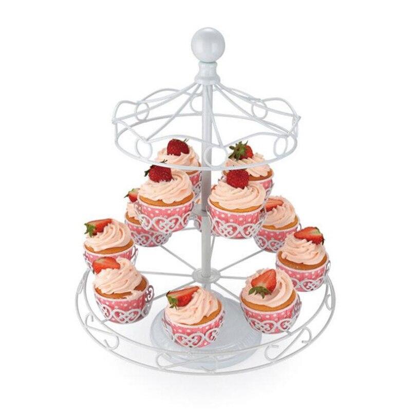 Carrousel gâteau Stand blanc créatif Branches formes Snack Stand mariage anniversaire exposition fête gâteau décoration gâteau Shope - 5