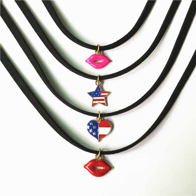New Gothic Choker Necklaces For Women Black Lace Necklace Jewelry Fashion Alloy Pendant Neck Accessories Best Gift Wholesale