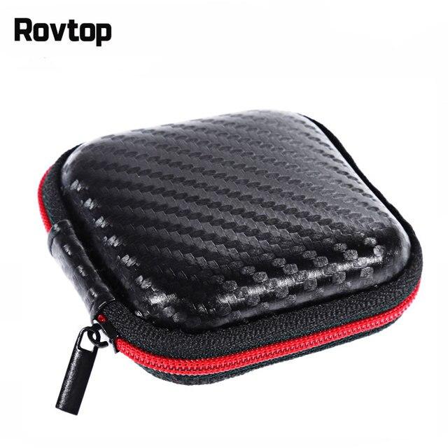Rovtop Protable イヤホンケース用ミニジッパー収納ボックスハードバッグヘッドセットケース充電器データラインヘッドセットバッグ