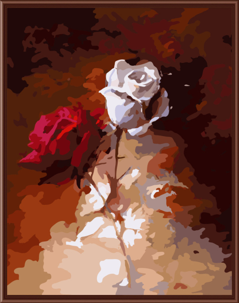 Abstract Rose Frameless Picture Painting By Numbers DIY ...