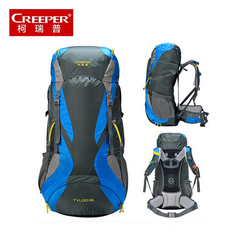 CREEPER 2017 NEW  High quality 60L backpacks Men and women backpacks Waterproof travel backpack large capacity multifunctional-in Backpacks from Luggage & Bags    1