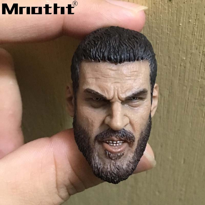 Classic Beard Male Soldier Head Sculpt Model for 12in Action Figure Collection Toys m5 DIY Hobbies
