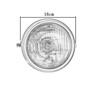 Image 5 - DC 12V Motorcycle Refit Headlight Vintage Round Motorcycle Head Light Scooter Motorbike Motor Front Headlights Lamp Universal