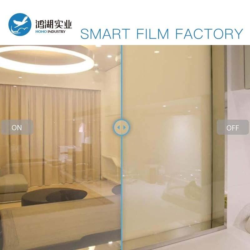 Commutable Électrique atomisation blanc opaqu Auto-adhésif PDLC intelligent Film Fenêtre Porte pour écran de projection arrière 50 cm x 50 cm