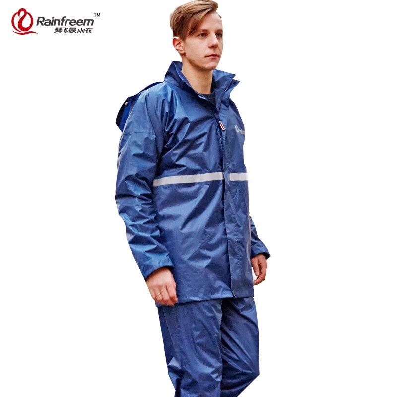 Rainfreem Double-layer Impermeable Raincoat Women/Men Rain Coat Suit Outdoor Women Motorcycle Rainwear Poncho Rain Gear