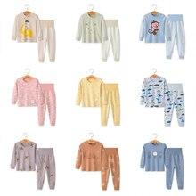 Susi&Rita Cotton Boys Pajamas 2018 Autumn Long Sleeve Nightwear Cartoon Girls Christmas Pajamas Baby Kids Winter Pajamas