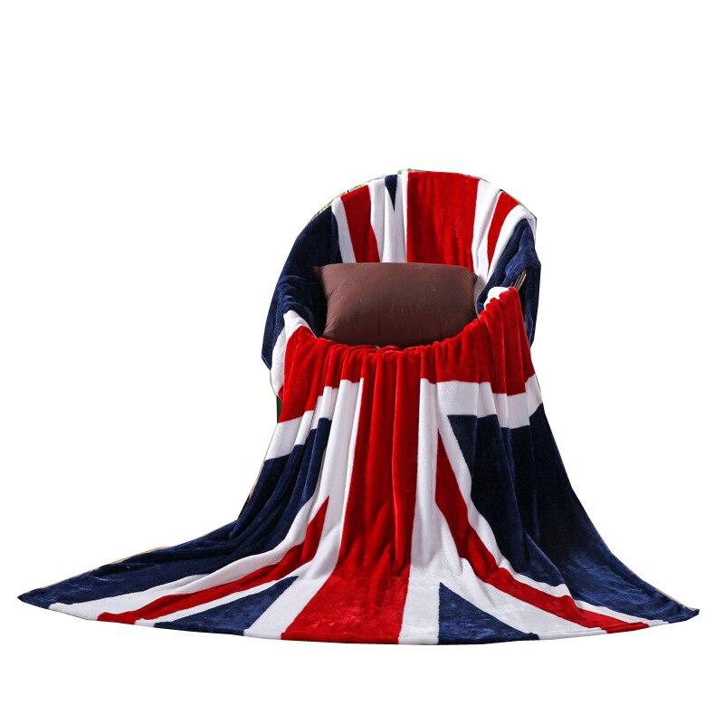 Ins Union Jack britannique UK drapeau corail flanelle polaire couverture USA drapeau TV couverture sur lit jeter canapé maison voyage couvertures 150x200 cm