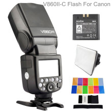 Godox V860II-C E-TTL HSS 2.4G Flash For Canon EOS Dsrl Camera Build-In Transceiver Li-ion Battery Speedlight With Trigger yongnuo yn622c kit wireless e ttl hss flash trigger kit yn622c 622c transceiver
