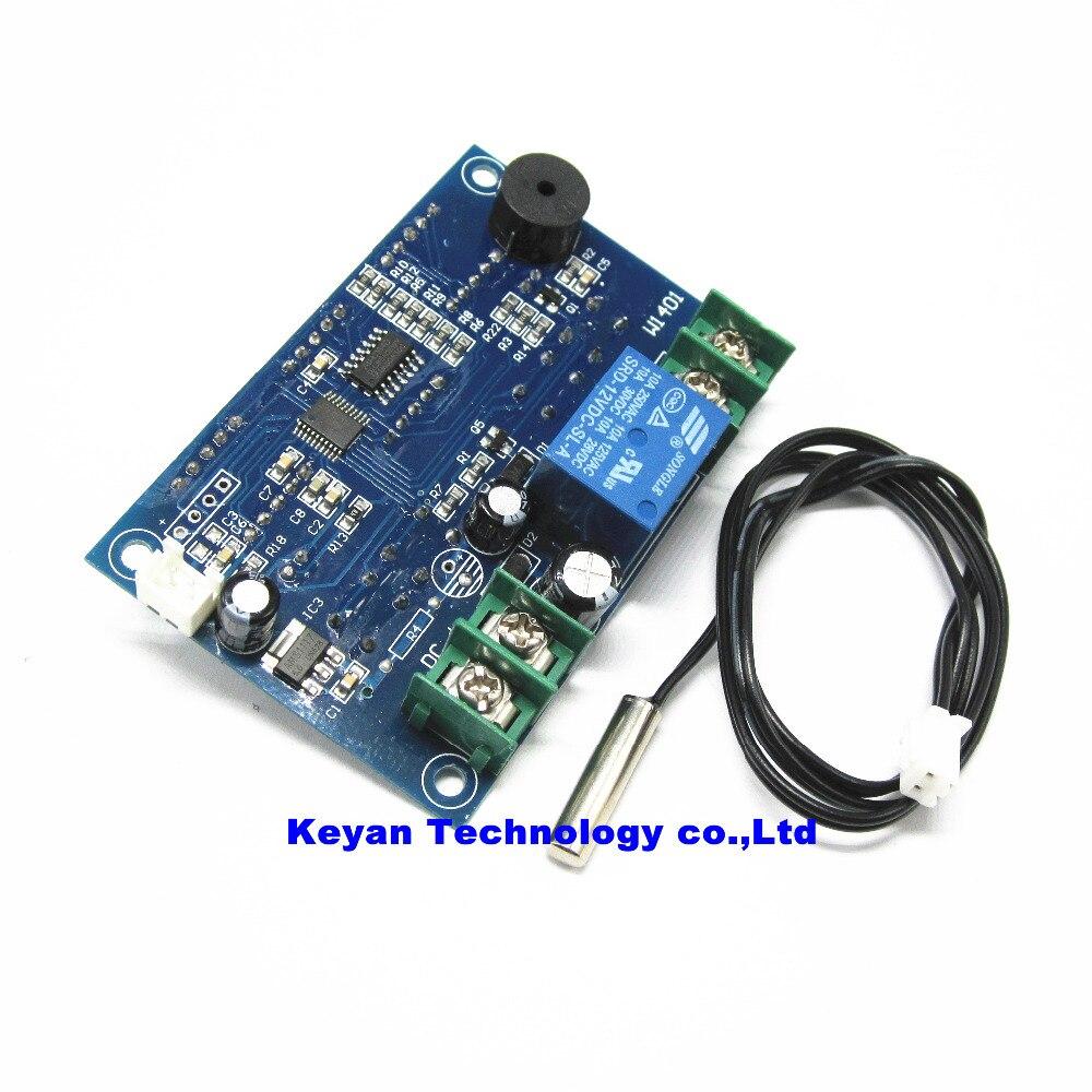 20pcs DC12V thermostat Intelligent digital thermostat temperature controller With NTC sensor W1401 led display