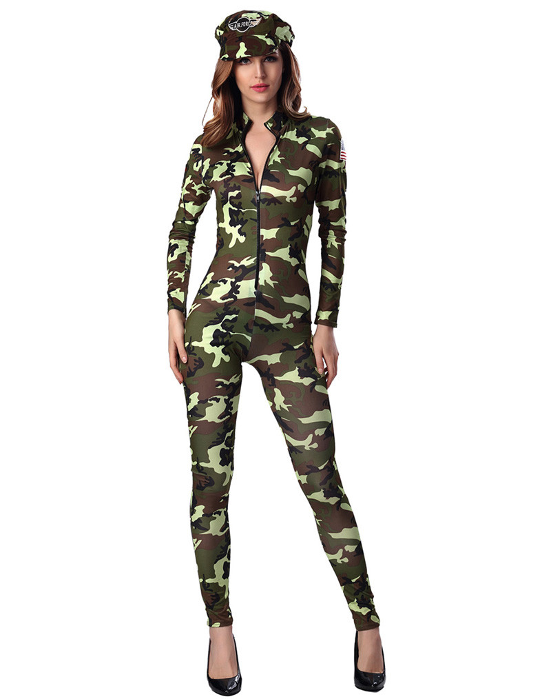 HTB13flkOpXXXXczXFXXq6xXFXXXc - FREE SHIPPING Adult Sexy Army soldier Costumes Commander camouflage printed romper with long sleeves JKP283
