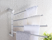New Project Round Towel Rack Sanitary ware bathroom accessories towel bar 180 degree rotating  aluminum connecting rod