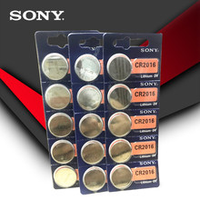 15pcs/lot SONY 3V Lithium Coin Cells Button Battery DL2016 KCR2016 CR2016 LM2016 BR2016 High Energy Density(China)