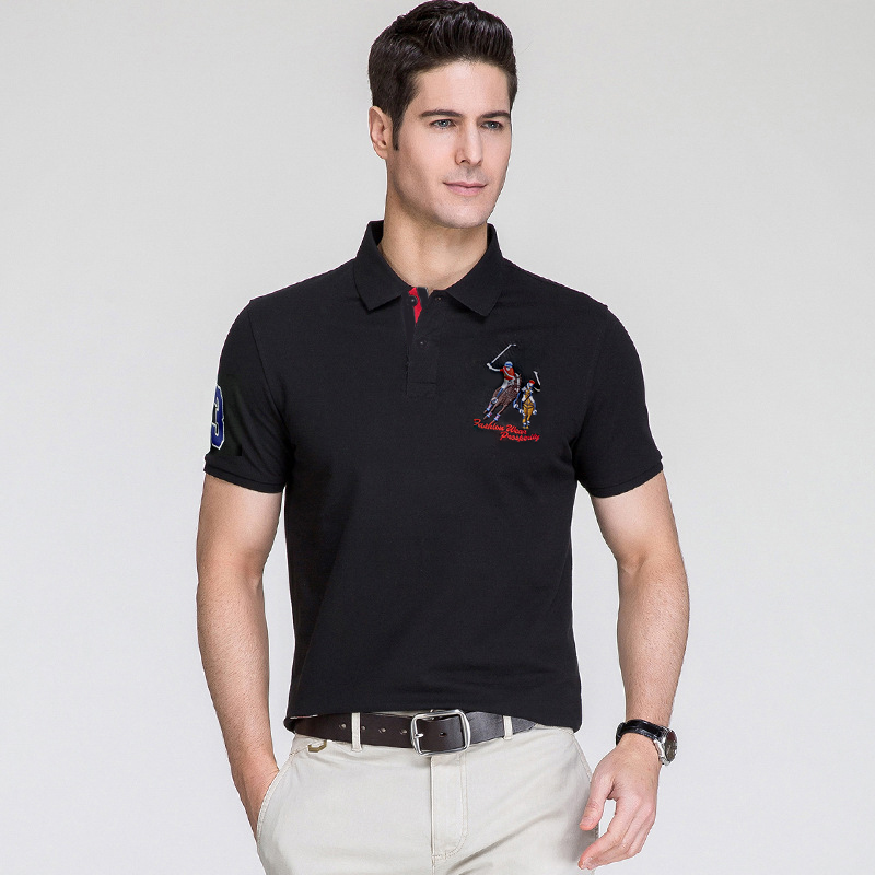 2019   Polo   shirt short sleeve summer high quality cotton homme camisa plus size XXXL breathable 3d embroidery mens tops & tees