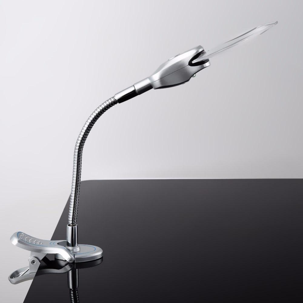 2.5x 90MM 4x 21MM 2 LED Çıraq böyüdücü Klip masa masası - Mebel - Fotoqrafiya 2