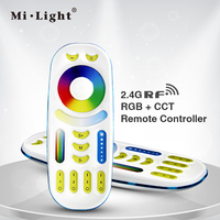Freeshipping RGB CCT Remote Controller 2 In 1 Full Touch 4 Zone Group Control For Milight