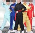 UNISEX 6 цвета Синий/красный/синий/желтый Дети боевых искусств кунг-фу тай-чи одежда наборы костюмы дети униформа