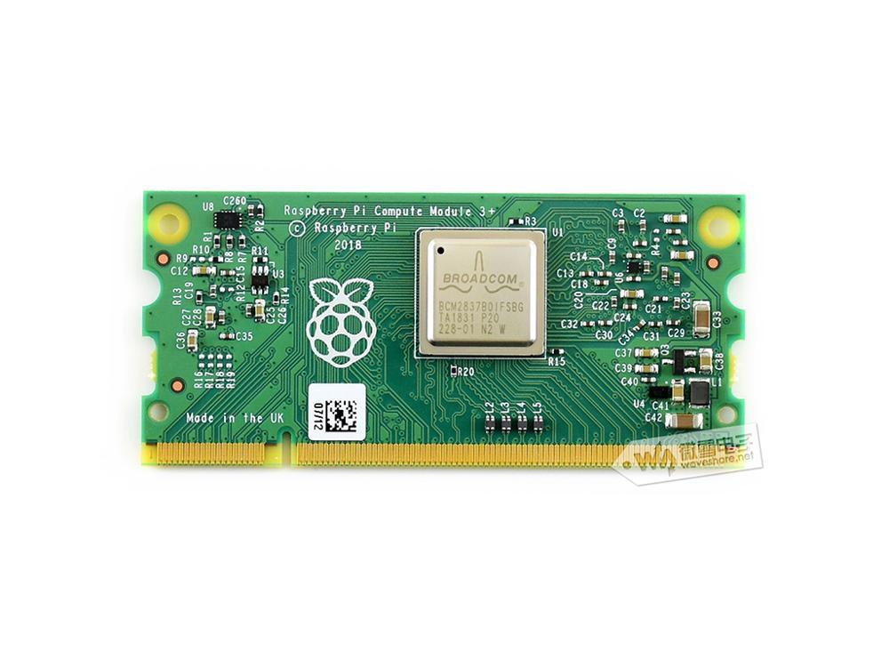 Module de calcul 3 + 32GB Raspberry Pi 3 modèle B + dans un facteur de forme flexible, avec 16GB eMMC Flash