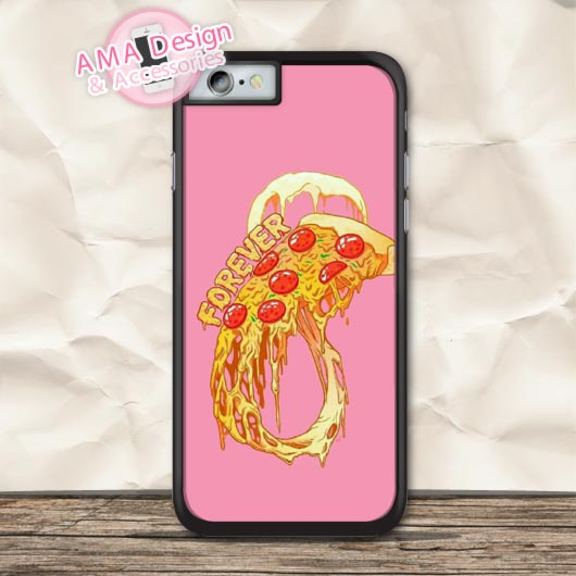 Pizza On Pink Lovely Protective Case For iPhone X 8 7 6 6s Plus 5 5s SE 5c 4 4s For iPod Touch