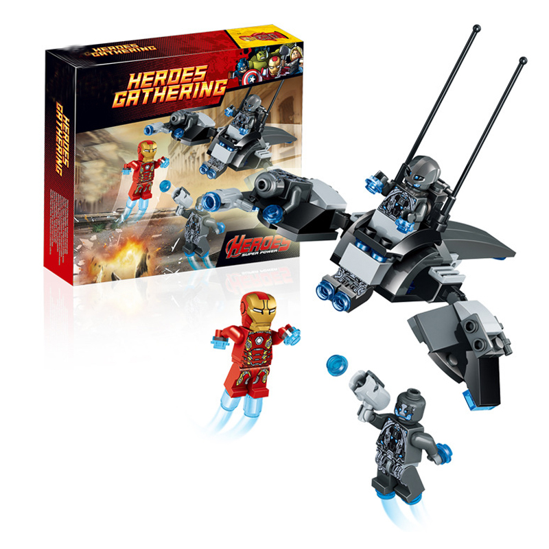 Marvel Super Heroes Avengers Building Blocks Ultron Figures Iron Man Toys For Children DBP423