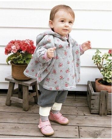 Две стороны детей загущенные хлопка клип плащ с капюшоном шаль ветрозащитный пальто платки 0 - 3 лет стеганые плащ с капюшоном штамп