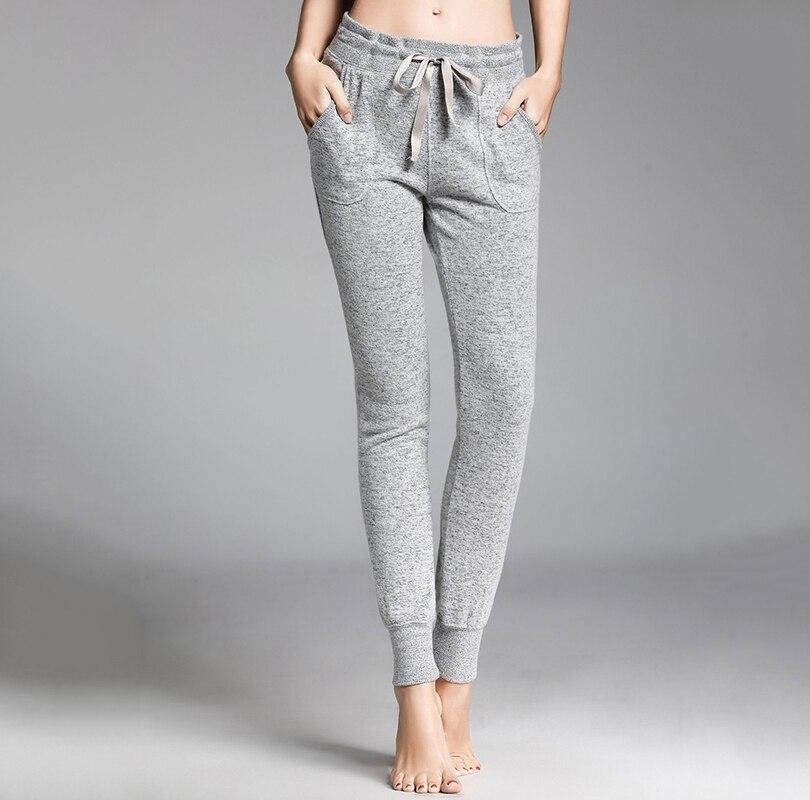Autumn winter pajama pants women solid modal casual home wear long sleep pants