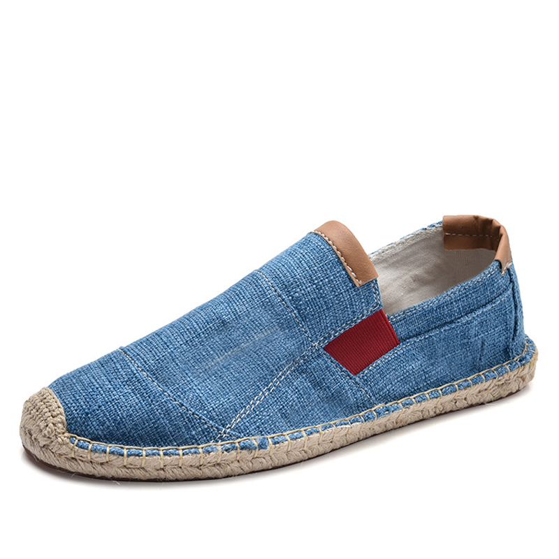 Resbalón Para Moda Beige 2018 Chino negro marrón azul caqui Hombre Suave Transpirables rojo Mocasines De Oudiniao Zapatos Hombres Lona Casuales En Sandalias zAqzwd7
