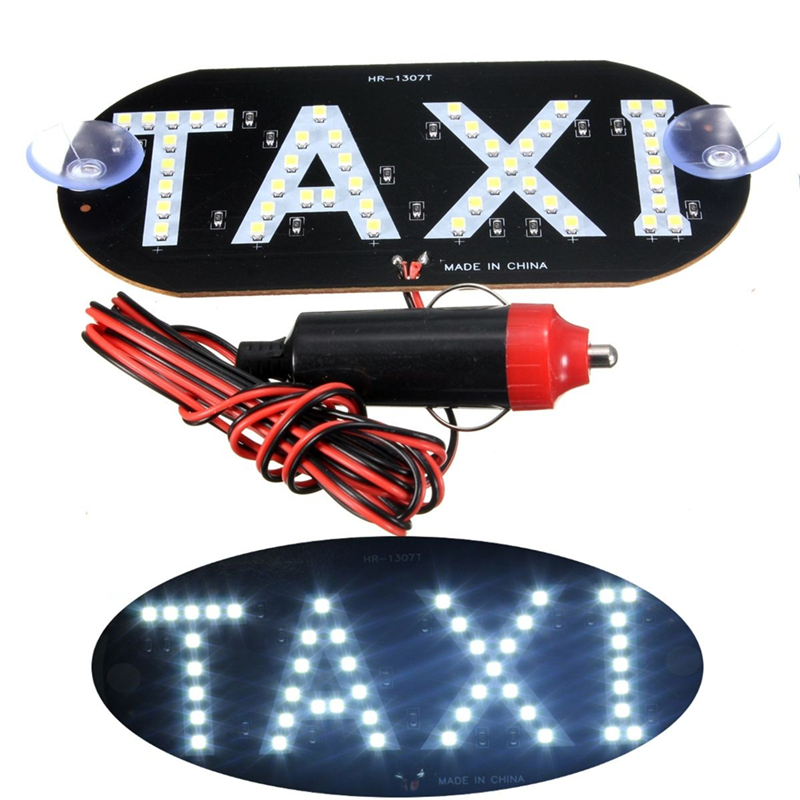 2019 Latest Design 12v 45 Led Car Taxi Led Neon Board Light Windscreen Cab Indicator Lamp Sign Bulb Windshield Taxi Roof Led Top Light Lamp 4 Color Car Lights