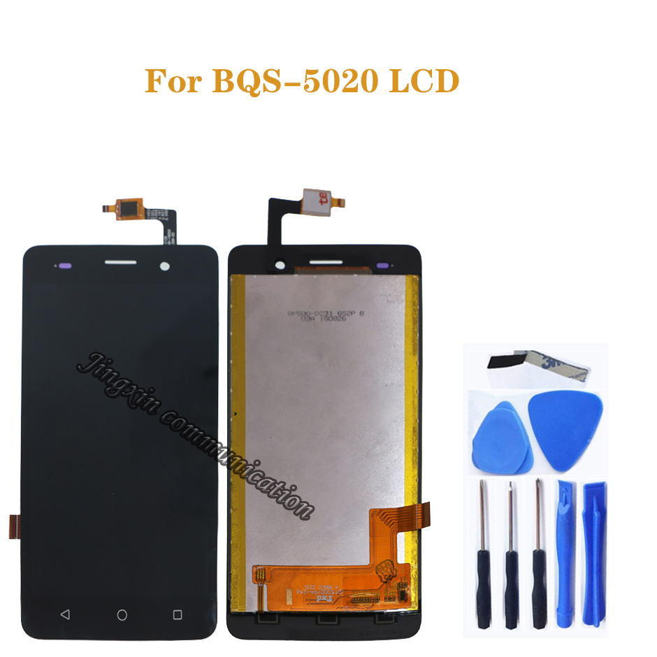 100% test for BQ BQS 5020 LCD display + touch screen digital converter replacement for BQS 5020 screen components Free shipping-in Mobile Phone LCD Screens from Cellphones & Telecommunications