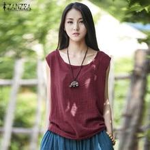 Shirts Blusas Plus Sleeveless