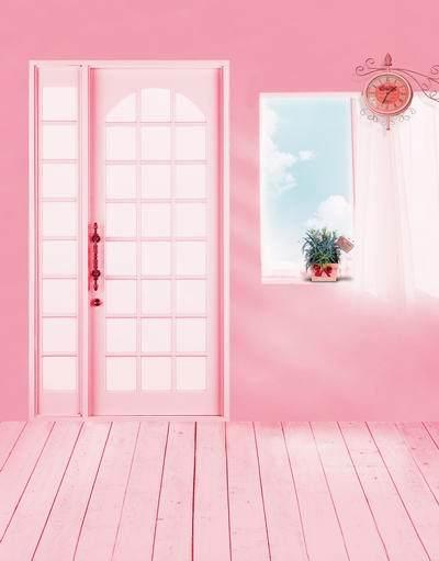 5x7ft Pink Floor House Vinyl Background Photography