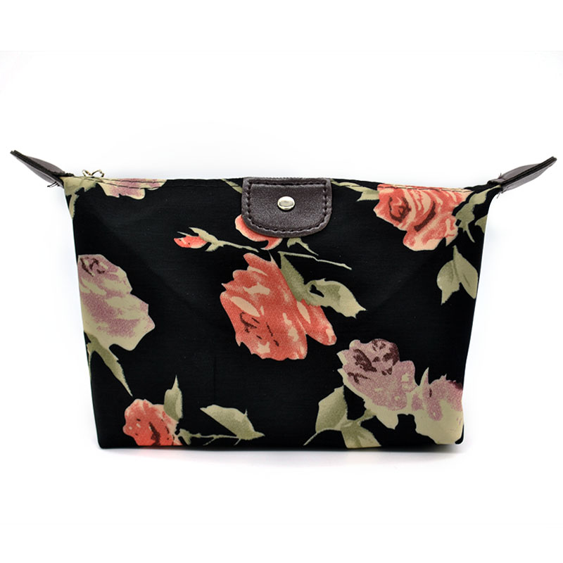 Vintage Flowers Pattern Nylon Cosmetic Bag Cute Makeup Orgaizer Star Zipper Travel Storage Bags Toiletry Wash In Cases From Luggage