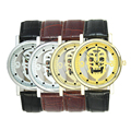 1pc luxury brand new men male watches wrist clocks Quartz Wristwatches Punk Skull Skeleton design leather strap fashion gift H4