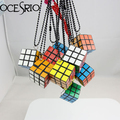 Magical Cube Magic Puzzle Cube Necklace fashion new 2016 jewelry nke-g44