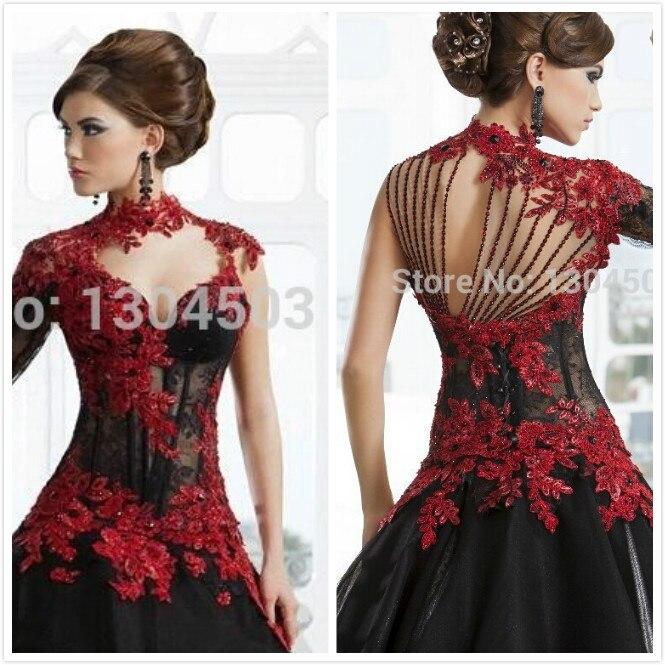 robe rouge en dentelle noir les robes sont populaires