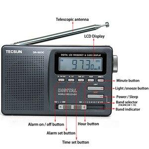 Image 3 - TECSUN – Radio réveil numérique Portable noir, affichage numérique FM/MW/SW, multi bande avec écran LCD haute sensibilité, Audio de Campus, DR 920C