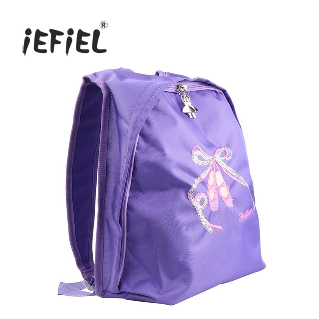 3afa75f8cb74 IEFiEL/Для девочек балетная школа танцев тренажерный зал рюкзак носком  обувь вышитая сумка для профессиональных