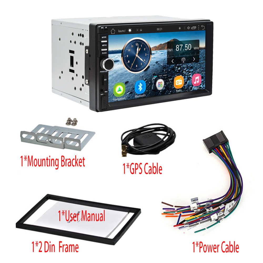 Panlelo S1 Plus radio de coche Android 2 din 2G de navegación GPS 3 2G Android 9,0 estéreo de coche 2 din con Bluetooth 7 pulgadas Android para Kia