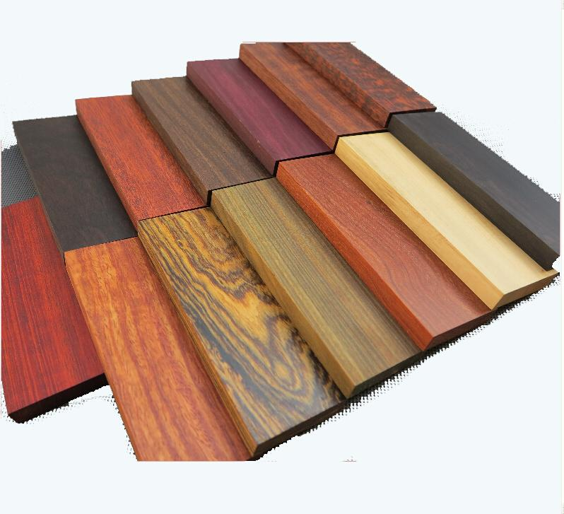 Knife DIY Wood Material 120*40*10mm Red Green Ebony Snakewood Without Wax