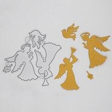 Angel and pigeon Metal Cutting Dies DIY Decorative Scrapbooking Craft Card Album Stencils 85*84 mm