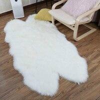 LIU Luxury Faux Sheepskin Carpet Faux Fur rugs Seat Pad Fur Plain Fluffy Soft Area Rug Tapetes Sofa soft fur carpet livingroom