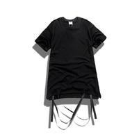 Men Short Sleeve Kanye West T Shirt Men S Harajuku Hip Hop Urban Clothes Ribbon Can