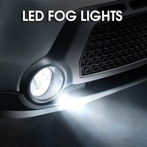 Pair LED Fog Light Lamps  for Nissan Suzuki  Ford  honda Land Rover Mitsubishi Subaru