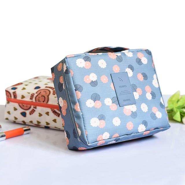 2020 New Cosmetic Multi-function Waterproof Bag Oxford Travel Storage Makeup 3