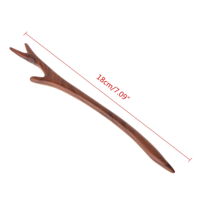 Ebony Hairpin Chinese Style Retro Hair Stick Antler Natural Wood Jewelry Vintage Exquisite Hair Accessories 1